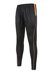 Color-Block-Pocket-Zips-Slim-Leg-Mens-Sport-Pants