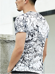 Abstract Print  Short Sleeve Short Sleeves T-Shirts
