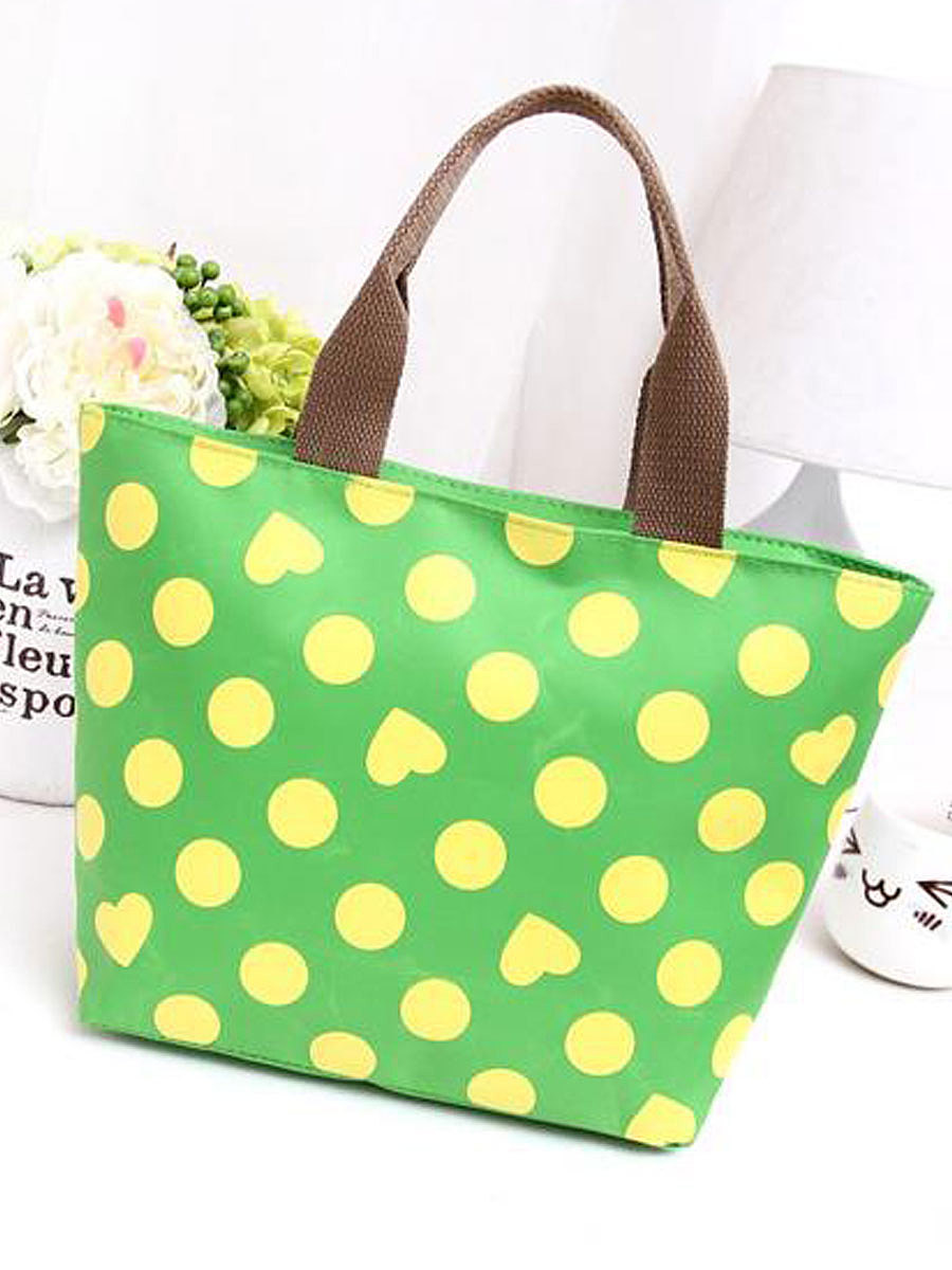 Polka Dot And Heart Shape Shoulder Bags For Women