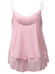 Plain Double Layer Chiffon Camisole