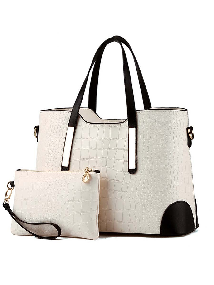 Crocodile Pattern Two-Piece Shoulder Bag