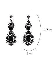 Hollow Out Faux Crystal Earring