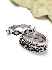 Antique Alloy Three Rings Set