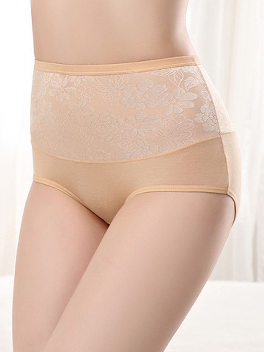 Comfortable High Rise Shaping Body Fitness Foral Panties