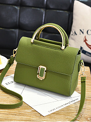 Casual Pu Plain Crossbody Bag