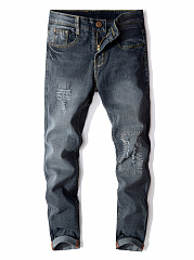 Distressed-Light-Wash-Slim-Leg-Mens-Jeans