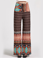 Absorbing Tribal Printed Wide-Leg Casual Pants