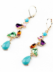 Colorful Rhinestone Drop Earring