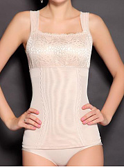 Sexy-Double-Breasted-High-Stretch-Smocked-Camisole-Bodice-Lace-Printed-Corsets