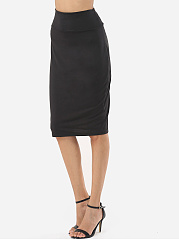Plain Graceful Midi-Skirt