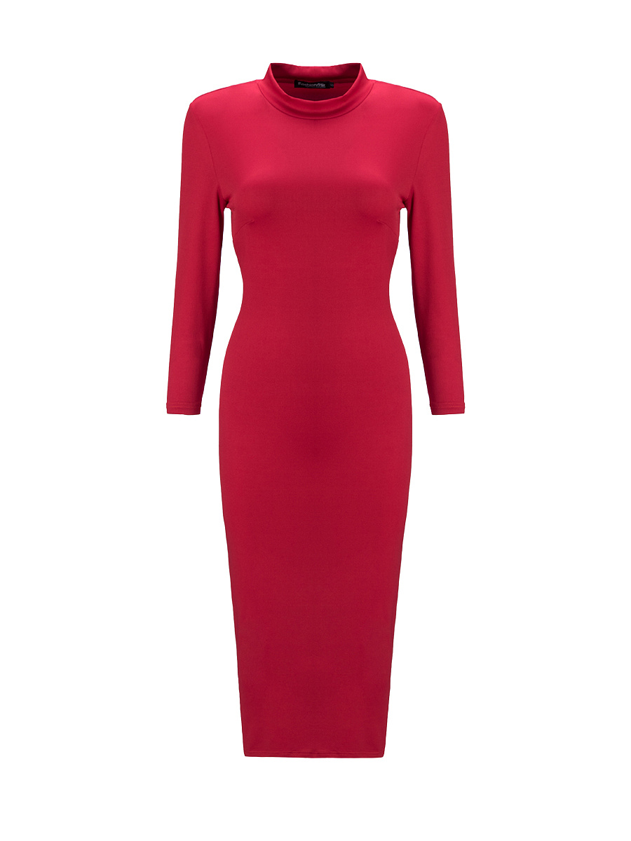 Pure Remarkable High Neck Bodycon Dress