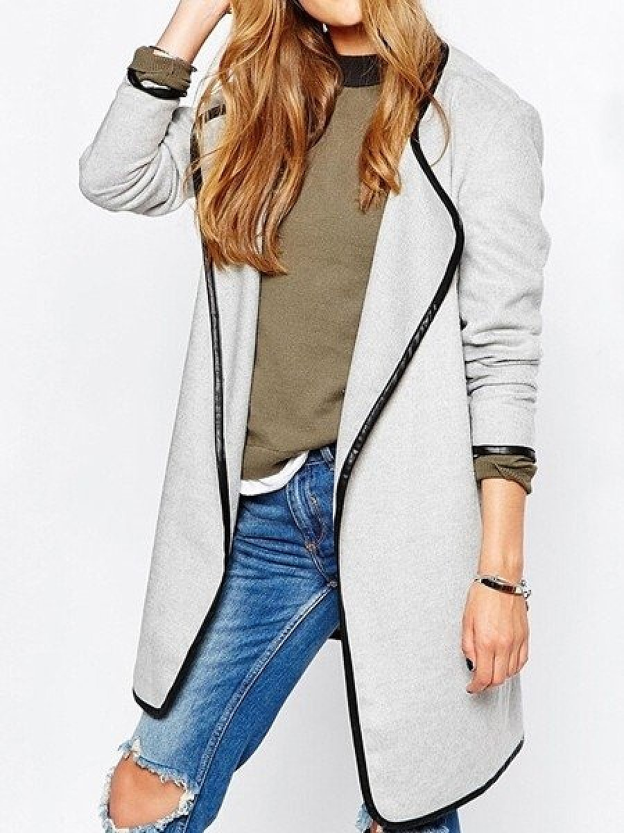 Casual Pachwork Trench Coats