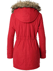 Assorted Colors With Pockets With Zips Stylish Hooded Overcoats