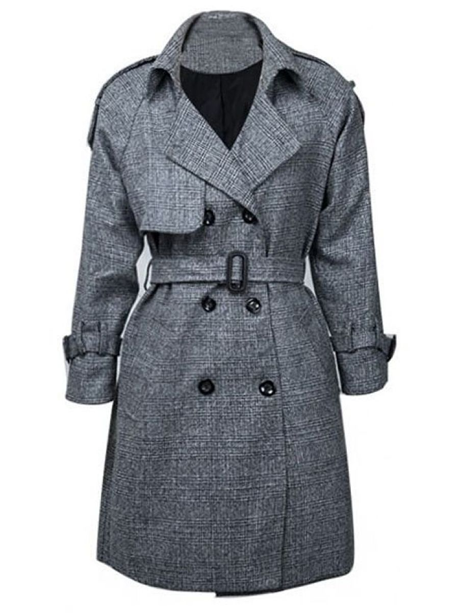Slim Breasted Classical Lapel Trench Coats