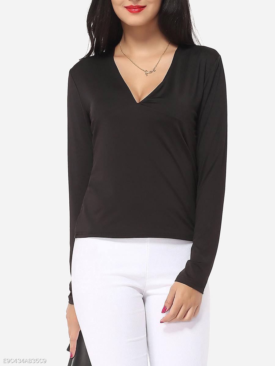 76e1a30e8f2e Plain V Neck T Shirts Womens | Azərbaycan Dillər Universiteti