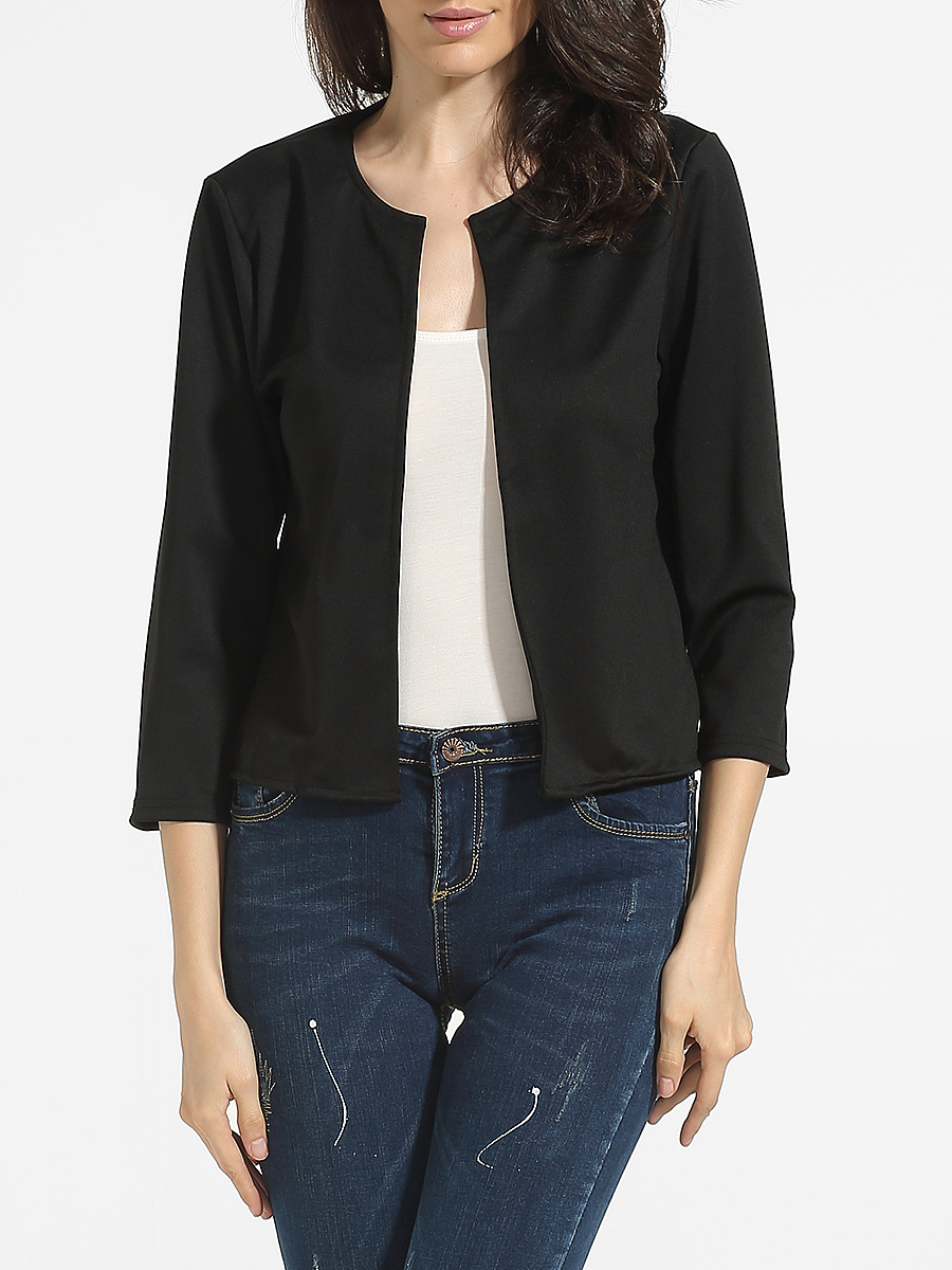 Collarless Dacron Plain Jackets