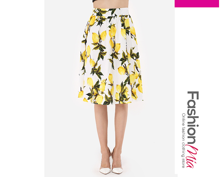 Image of Floral Printed Classical Mini-Skirt