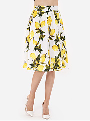 Floral Printed Classical Mini-Skirt