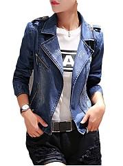 Denim-Zips-Stylish-Lapel-Jackets