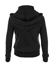 Double Breasted Pockets Plain Hoodie