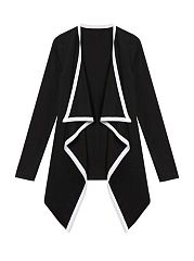 Color Block Long Sleeve Fascinating Lapel Jackets