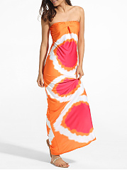 Tube Dacron Printed Maxi-dress