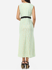 Round Neck Lace Evening-dress