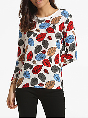 Round Neck Dacron Printed Long-sleeve-t-shirt