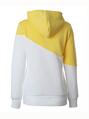 Kangaroo Pockets Color Block Hoodie