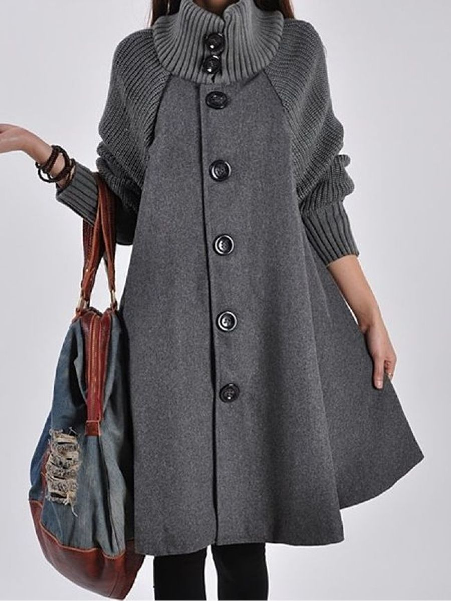 Band Collar Trench Coats