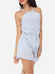 Dacron Striped Rompers