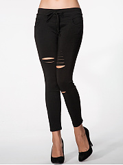 Plain-Ripped-Mid-Rise-Legging