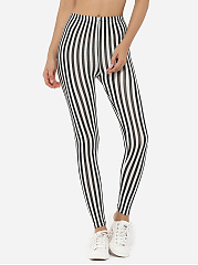 Dacron Color Block Striped Leggings