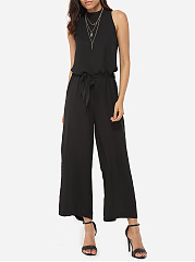 Loose-Fitting-Chiffon-Plain-Jumpsuits