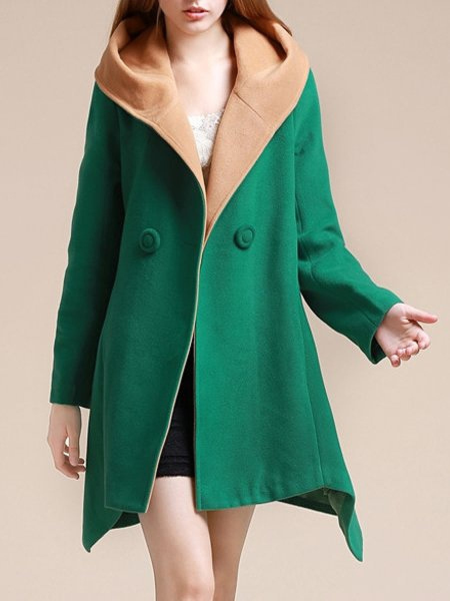 Casual Oversize Pachwork Trench Coats