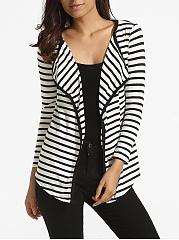 Lapel-Knit-Striped-Cardigan