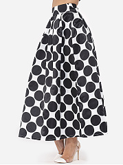 Polka Dot Courtly Maxi-Skirt