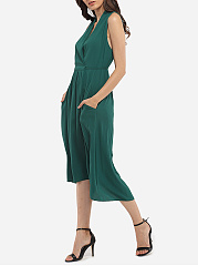 Surplice Chiffon Plain Maxi-dress