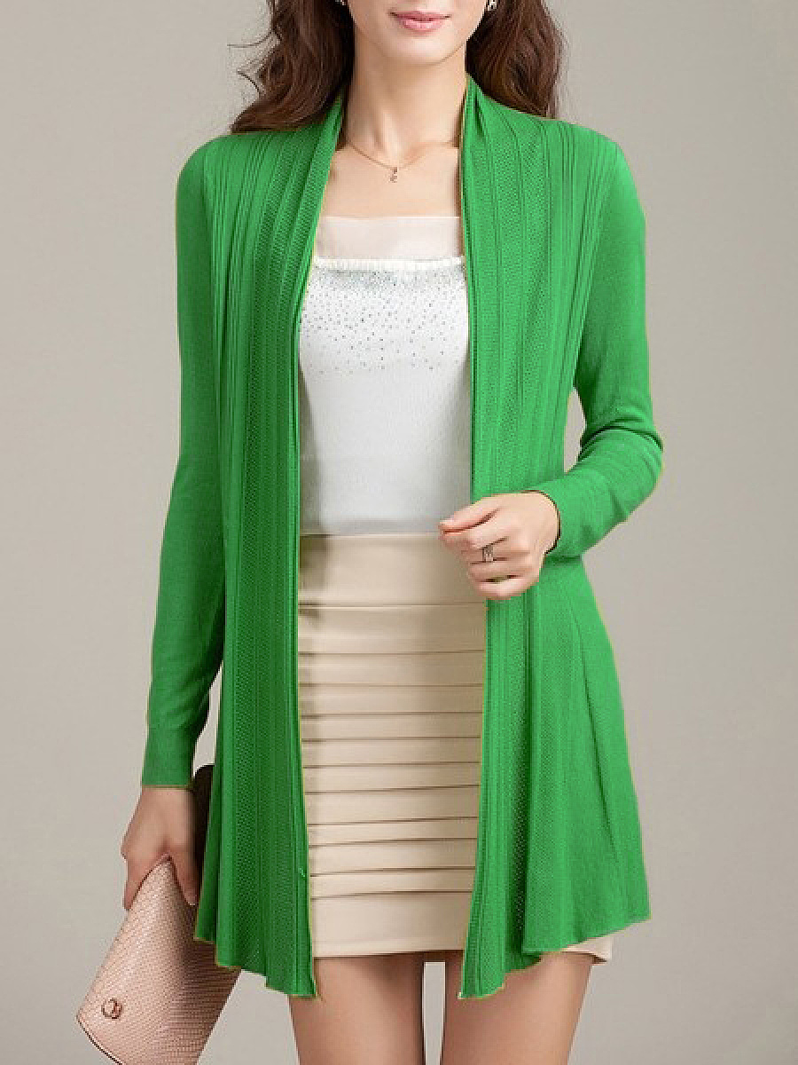 Modern Plain Colorful Cardigan