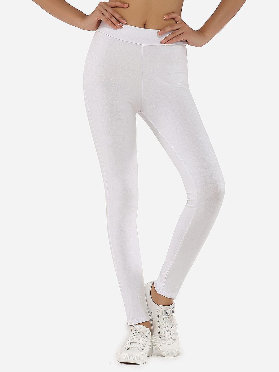 Zips Cotton Plain Leggings