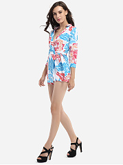 Bowknot Dacron Assorted Colors Printed Rompers