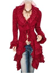 Plain Falbala Sweet Ruffled Cardigan