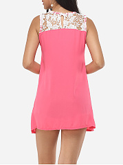 Lace Patchwork Captivating Round Neck Camisole