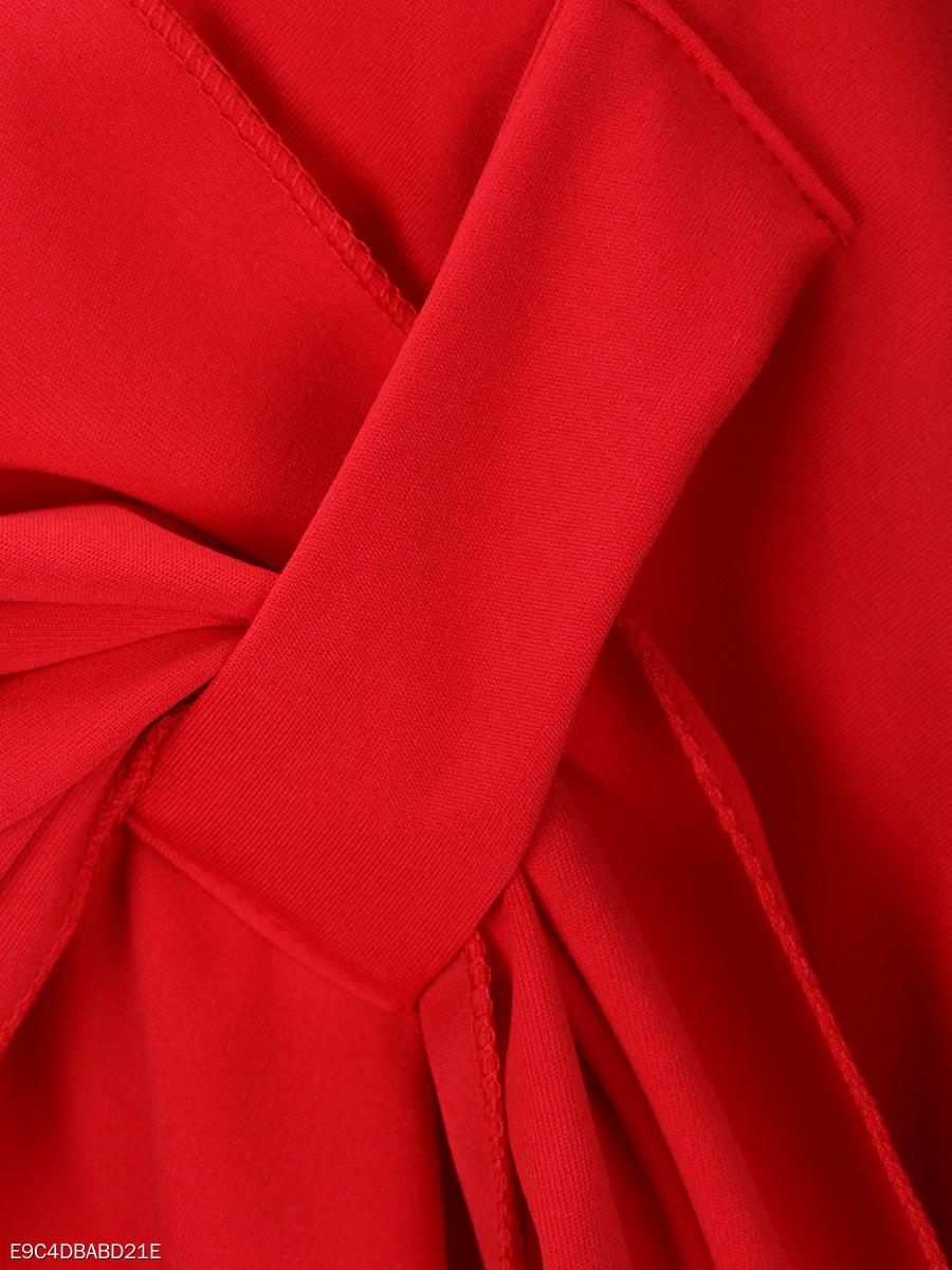designed v-neck asymmetric hem plain cape