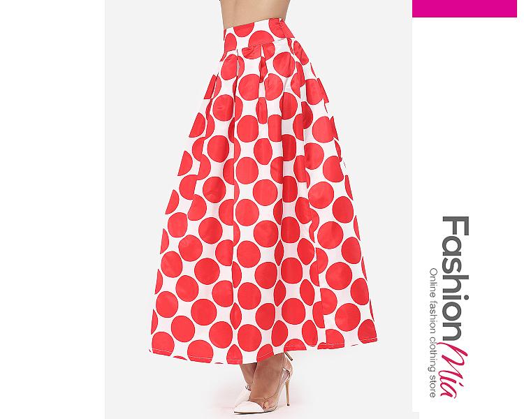 Image of Polka Dot Delightful Maxi-skirt