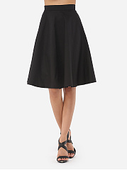 Dacron Plain Midi-skirt