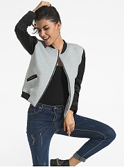Pockets-Band-Collar-Color-Block-Bomber-Jacket
