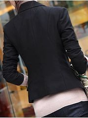 Pockets Brilliant Lapel Blazer