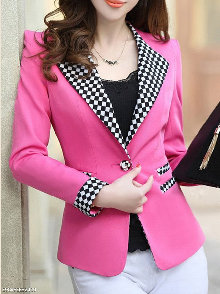 Assorted Colors With Pockets Stylish Lapel Blazers