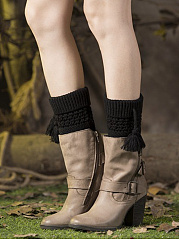 Tassel Thick Cotton Knit Leg Warmers